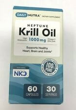 Neptune Krill Oil Omega-3 EPA DHA Astaxanthin Heart Brain Joint Health 60 ct