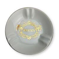 Ernie's Restaurant White Ceramic Ashtray San Francisco Gold Rim Mermaids Vintage