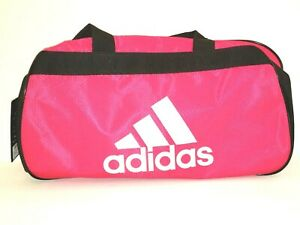 Adidas Diablo Bold Pink Black White Small Duffel Bag Gym Bag