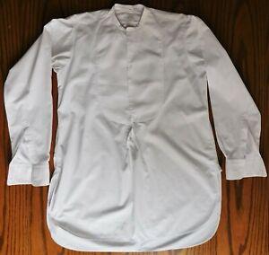 Vintage tunic shirt size 15 John Barker Edwardian collarless mens dress wear