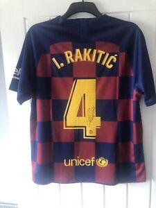 IVAN RAKITIC 4 - SIGNED BARCELONA SHIRT 19/20, CROATIA LEGEND!!