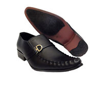 Mens Italian Smart Black Slip On Shoes Office Wedding Work Formal Party Size New