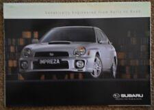 SUBARU RANGE orig 2000 UK Mkt Large Format Sales Brochure - Impreza WRX Legacy
