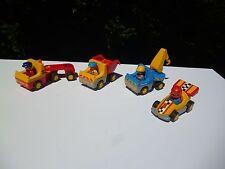 🍓 Lot Playmobil 1.2.3 (123) Camion Benne 6732 Camion Grue Travaux Publics 6791