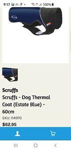 SCRUFFS Thermal Dog Coat 40cms Navy