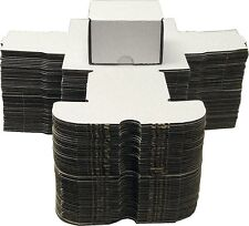 Bundle Lot of 5 White Cardboard Baseball Trading Card Storage Box Boxes 200 ct