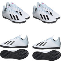 Adidas Kids Boys Football Trainers Astro Turf Boots X19.4 TFJ Soccer Shoes White