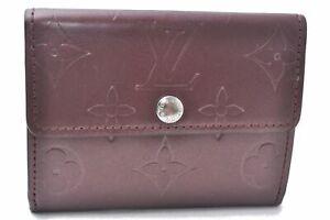 Auth Louis Vuitton Monogram Mat Ludlow Coin Card Case Purple M65126 LV D8172