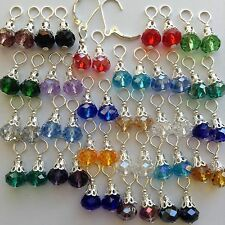 25 Pairs Jewelry Earring charms,2 pcs Sterling Silver Interchangeable Lever back
