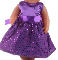 Puppen Kleidung Party Kleid lila Abendkleid Ballkleid für 40 cm Puppen, Nr.166d