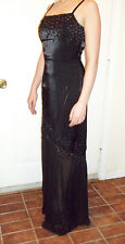 Elegant Cache prom, pageant gown, beaded, sheer asymmetrical skirt, size 2