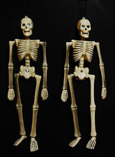 """HALLOWEEN HANGING SKELETONS (MOVEABLE ARMS AND LEGS) 18""""LONG SET OF 2"""