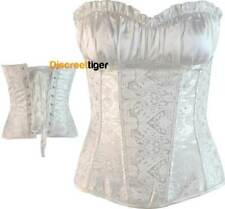 Renaissance Inspired Vintage Corset Ruffled Bust Cinched Waist Plus Size 6 to 28