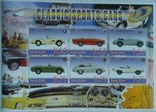 Classic automobiles vintage cars Porsche Jaguar BMW Sunbeam Malawi #M0964 IMPERF