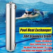 New listing 400kBtu / hr Stainless Steel Tube & Shell Heat Exchanger for swimming Pool / Spa