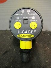 Banner U-Gage Ultrasonic Sensor Temperature Compensation Proximity New