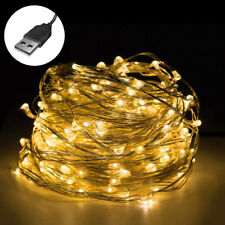 1-10M USB LED Lichterkette Außenlichterkette Weihnachten Deko Außen Beleuchtung