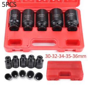 "5pcs 12 Point Axle Hub Nut Socket Set 1/2"" Drive Professional Impact Sockets Kit"