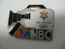 Olympic 2002 Salt Lake NBC media pin badge