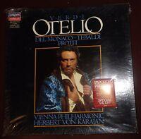 VERDI: OTELLO . 3  LP SEALED, MINT - DEL MONACO -TEBALDI - PROTTI. Von Karajan.