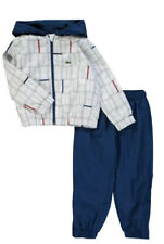 boys lacoste White Grid Design tracksuit Age 16 Years New With Tags