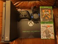 Xbox One X 1TB **RARE** Limited Project Scorpio Special Edition Bundle