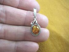 2.32g Authentic Baltic Amber 925 Sterling Silver Pendant Jewelry N-A542B