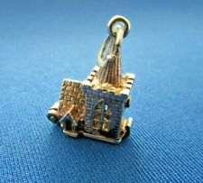VINTAGE 925 STERLING SILVER CHARM TOBY CHURCH HOUSE OF GOD OPENS 2.9 g