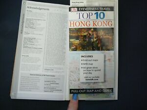 HONG KONG EYEWITNESS TRAVEL TOP 10 FREE PULLOUT MAP AND GUIDE, 160 PAGES