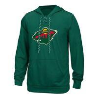 Minnesota Wild Reebok Center Ice TNT Speedwick Green Pullover Hoodie Men's