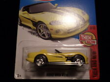 HW HOT WHEELS 2017 HW THEN AND NOW #9/10 DODGE VIPER RT/10 YELLOW HOTWHEELS VHTF
