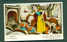 More details for walt disney ,snow white reading dwarfs names on beds,vintage postcard