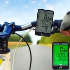 Hot MTB Bike Bicycle Cycling Computer Odometer Speedometer LCD Backlight Welcome