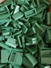100 New Lego 1x2 sand green Finishing Tiles Smooth Floor Harry potter mind craft
