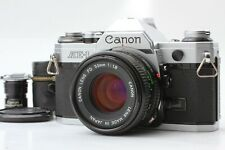 [ N.Mint ] Canon AE-1 SLR 35mm Film Camera w/ New FD 50mm f/1.8 Lens From Japan