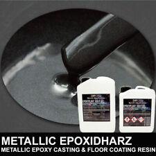 Epoxidharz NIGHTHAWK BLACK SCHWARZ Metallic Boden Rivertisch Gießharz Form Resin