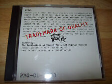 RARE Trademark Of Quality PROMO CD5798 Jane's Addiction/Body Count/Mudhoney/REM