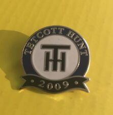 Placa de esmalte de caza Foxhound tetcott Hunt - 2009