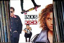 More details for inxs australian band kick lp album front cover photograph picture poster print