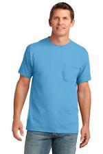 Port & Company Men's 54 oz 100% Cotton Pocket T Shirt, PC54P, S-4XL