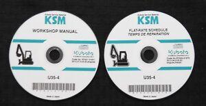 GENUINE KUBOTA U35-4 COMPACT EXCAVATOR TRACTOR SERVICE REPAIR MANUAL SET ON CD