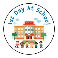 1st Day At School Nursery Teacher Sticker Party Sweet Cone School