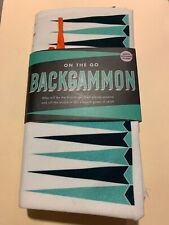On The Go Backgammon Board Game Marks & Spencer Fabric+30 Wood Pieces 4 Dice NEW