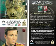 Star Trek Reflections Of The Future Phase Two 2 Panel Promo Card Kirk - Alien
