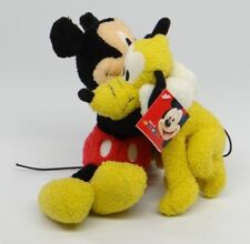 """DISNEY FRIENDS~MICKEY MOUSE HUGGING PLUTO~8"""" Fisher-Price 94689 2001 Plush~ NEW"""