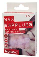 Noise X Wax Ear Plugs - 6 Pairs