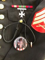 Sniper HOG TOOTH Paracord .30 Cal ...Necklace ...+ 1 Decal   ...Black