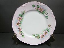Lorenz Hutschenreuther Plate Germany ~ Apple Blossom Pink - Gold Trim