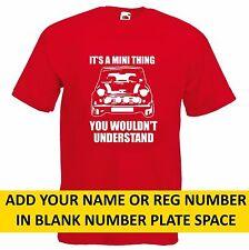 MINI Cooper T Shirt car old vintage austin Funny gift dad classic humor present