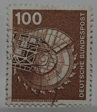 VINTAGE~GERMAN~GERMANY~100~PFENNIG~PFG~INDUSTRY~TECNIC~BUNDESPOST~STAMP~X1~B13